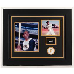 Roberto Clemente 19.5x23.5 Custom Framed Display with (1) Hand-Written Word From Letter (JSA LOA Cop