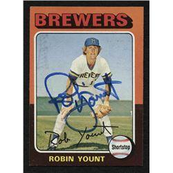 Robin Yount Signed 1975 Topps #223 RC (JSA COA)