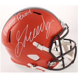 """Greedy Williams Signed Cleveland Browns Full-Size Speed Helmet Inscribed """"Dawg Pound"""" (Beckett COA)"""
