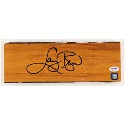 Larry Bird Signed Boston Garden 4x12 Wood Floorboard Piece (PSA COA)