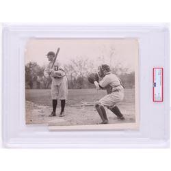 Vintage 1920's Ty Cobb Detroit Tigers 7x9 Photo (PSA Encapsulated)
