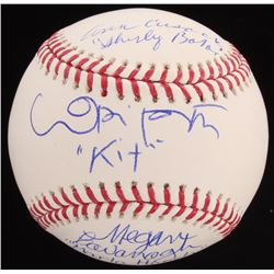 "Megan Cavanagh, Lori Petty  Ann Cusack Signed OML Baseball Inscribed ""Marla Hooch,"" ""Kit""  ""Shirley"