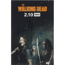 """""""The Walking Dead"""" 12x18 Photo Cast-Signed by (9) with Jeffrey Dean Morgan, Norman Reedus, Melissa M"""