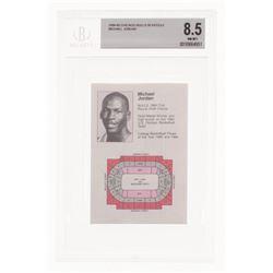 1984-85 Chicago Bulls Pocket Schedule (BGS 8.5)