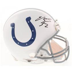 Edgerrin James Signed Indianapolis Colts Full-Size Authentic On-Field Helmet (Radtke COA)