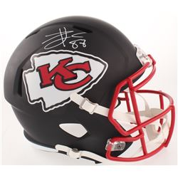 Travis Kelce Signed Kansas City Chiefs Full-Size Matte Black Speed Helmet (Beckett COA)