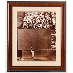 """Willie Mays Signed LE San Francisco Giants 23x27 Custom Framed Photo Inscribed """"The Catch"""", """"1954 N."""