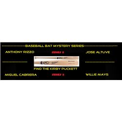 Baseball Bat Mystery Box - Autographed Baseball Bat Series 2 #/100 (Find the Kirby Puckett!)