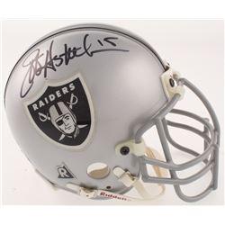 Jeff Hostetler Signed Oakland Raiders Mini Helmet (Beckett COA)