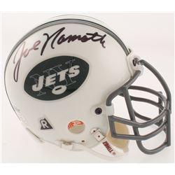 Joe Namath Signed New York Jets Mini Helmet (Beckett COA)