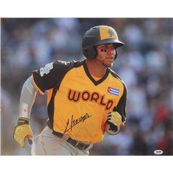 Yoan Moncada Signed 2016 MLB Future's Game 16x20 Photo (PSA Hologram)