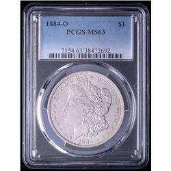 1884-O Morgan Silver Dollar (PCGS MS63)