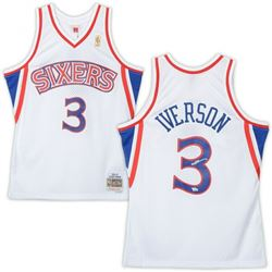 Allen Iverson Signed Philadelphia 76ers Jersey (Fanatics Hologram)