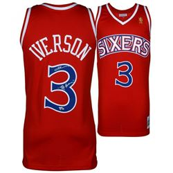 """Allen Iverson Signed Philadelphia 76ers Jersey Inscribed """"The Answer"""" (Fanatics Hologram)"""