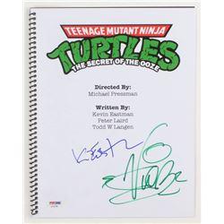 """Vanilla Ice  Kevin Eastman Signed """"Teenage Mutant Ninja Turtles II: The Secret of the Ooze"""" Movie Sc"""