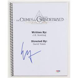 """Ezra Miller Signed """"Fantastic Beasts: The Crimes of Grindelwald"""" Movie Script (PSA Hologram)"""