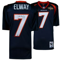 """John Elway Signed Denver Broncos Jersey Inscribed """"HOF 04"""" (Fanatics Hologram)"""