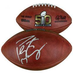 "Peyton Manning Signed ""The Duke"" Super Bowl 50 Official NFL Game Ball (Fanatics Hologram)"