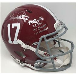 Derrick Henry Signed Alabama Crimson Tide LE Full-Size Authentic On-Field Speed Helmet with Multiple