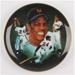 Willie Mays Signed New York Mets Porcelain Plate (Hackett Authentic)