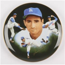 Sandy Koufax Signed Los Angeles Dodgers Porcelain Plate (Hackett Authentic)