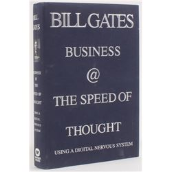 "Bill Gates Signed ""Business @ the Speed of Thought: Using a Digital Nervous System"" Hardcover Book ("
