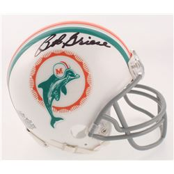 Bob Griese Signed Miami Dolphins Throwback Mini Helmet (Beckett COA)