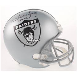 Howie Long Signed Oakland Raiders Throwback Full-Size Helmet (Beckett COA)