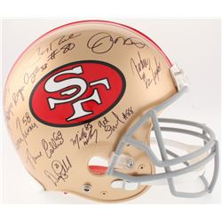 San Francisco 49ers Greats Full-Size Authentic On-Field Helmet Signed by (20) with Joe Montana, Jerr