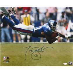 Tiki Barber Signed New York Giants 16x20 Photo (JSA COA)