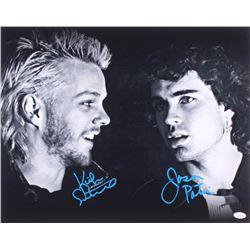 "Kiefer Sutherland  Jason Patric Signed ""The Lost Boys"" 16x20 Photo (JSA COA)"