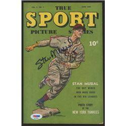 """Stan Musial Signed 1944 """"True Sport Picture Stories"""" Volume 2 #7 Comic Book (PSA COA)"""