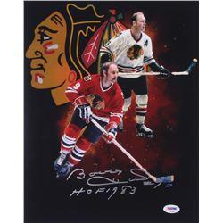 "Bobby Hull Signed Chicago Blackhawks 11x14 Photo Inscribed ""HOF 1983"" (PSA COA)"