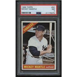 1966 Topps #50 Mickey Mantle (PSA 7)