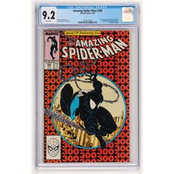 """Vintage 1988 """"The Amazing Spiderman"""" Special 25th Anniversary Issue #300 Marvel Comic Book (CGC 9.2)"""