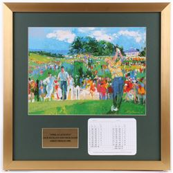 """LeRoy Neiman """"April at Augusta"""" 21.5x21.5 Custom Framed Print Display with Official Augusta National"""