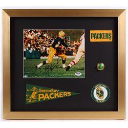 Paul Hornung Signed Green Bay Packers 17x19 Custom Framed Photo Display with Replica Ring  Mini-Penn