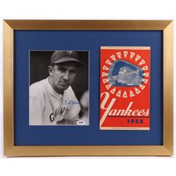 Carl Hubbell Signed New York Giants 16x20 Custom Framed Photo Display with Original 1955 Program (PS