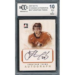 2007-08 ITG O Canada Autographs #AJT Jonathan Toews (BCCG 10)