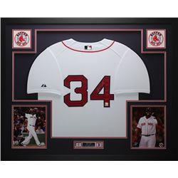 David Ortiz Signed 35x43 Custom Framed Jersey (Fanatics Hologram)