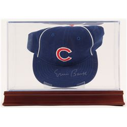Ernie Banks Signed Vintage Chicago Cubs Throwback Hat with Display Case (PSA COA)