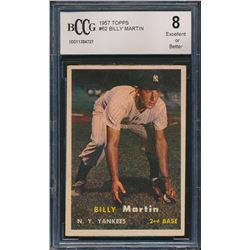 1957 Topps #62 Billy Martin (BCCG 8)