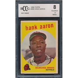 1959 Topps #380 Hank Aaron All-Star (BCCG 8)