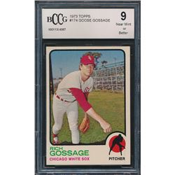 1973 Topps #174 Goose Gossage RC (BCCG 9)