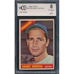 1966 Topps #100 Sandy Koufax (BCCG 8)