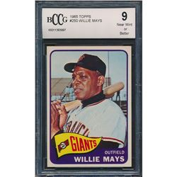 1965 Topps #250 Willie Mays (BCCG 9)