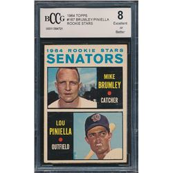 1964 Topps #167 Rookie Stars / Mike Brumley RC / Lou Piniella RC (BCCG 8)