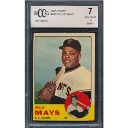 Willie Mays 1963 Topps #300 (BCCG 7)