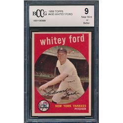 1959 Topps #430 Whitey Ford (BCCG 9)