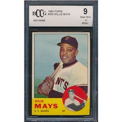 1963 Topps #300 Willie Mays (BCCG 9)